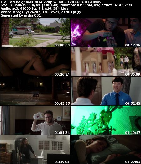 Bad Neighbors (2014) 720p WEBRiP XViD AC3-LEGi0N