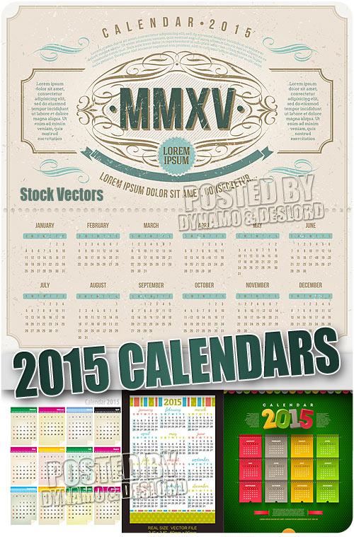 Календари на 2015 год #2 - Векторный клипарт