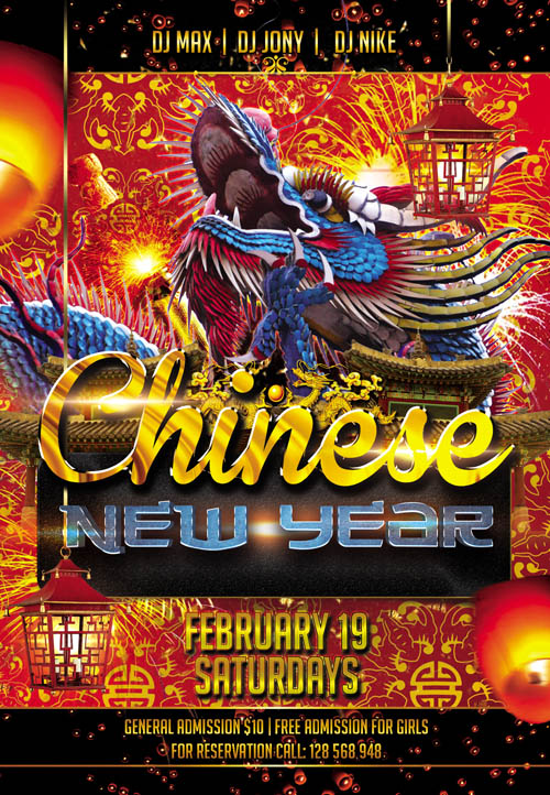 Fyer PSD Template - Chinese New Year 3