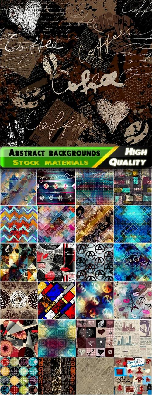Abstract grunge backgrounds vector art from stock - 25 Eps