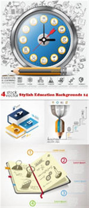 Vectors - Stylish Education Backgrounds 14