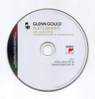 Glenn Gould (piano) - GLENN GOULD PLAYS BRAHMS (4 ballades OP.10, 2 Rhapsodies OP.79, 10 Intermezzi), 2CD / 2012 Sony Music Entertainment