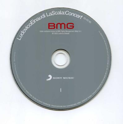 Ludovico Einaudi La Scala Concert 03.03.03 , 2CD / 2010 Sony Music Entertainment Italy S.p.a.