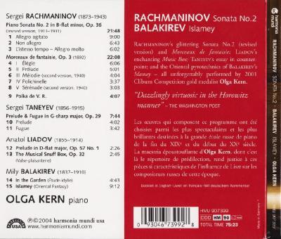 Olga Kern (piano) – Rachmaninov; Balakirev / 2004 harmonia mundi