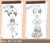 DrawWiz 1.0 - поможет нарисовать эскиз девушки