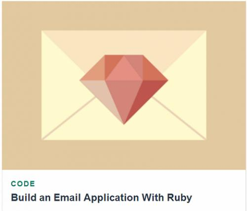 Tutsplus - Build an Email Application With Ruby
