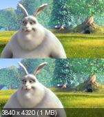 Большой Бак в 2Д/3Д 4K / Big Buck Bunny 2D/3D 4K [ OverUnder / Вертикальная стереопара]
