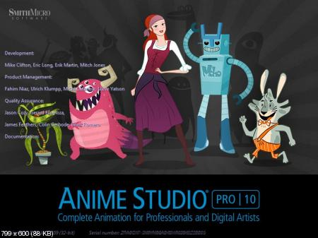 Smith Micro Anime Studio Pro 10.1.1 Build 13559 (Русификатор)