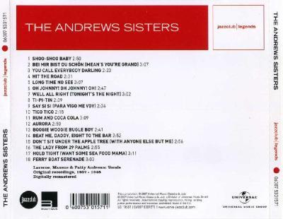 The Andrews Sisters – Bei Mir Bist Du Schon / 2007  Universal Music Classics & Jazz