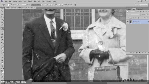 Lynda.com Методы реставрации поврежденных чёрно-белых фотографий