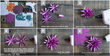 Цветы из дизайнерской бумаги 49b9f8df01aea47ccb0ece38de433a6e
