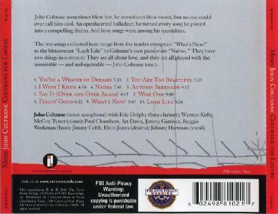 More John Coltrane - John Coltrane for Lovers / 2005 Verve