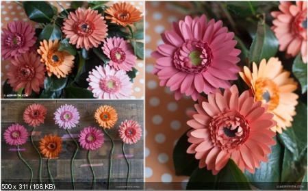 Цветы из дизайнерской бумаги 071693c918c2b43f441cab5a5b407da0