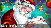 Обои Новый год! Санта Клаус! (100 шт)