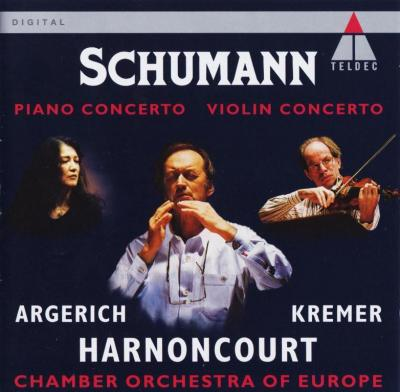 Argerich, Kremer – Schumann: Piano Concerto, Violin Concerto (Chamber Orchestra of Europe, Harnoncourt) / 1994 TELDEC
