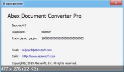 Abex Document Converter Pro 4.0 (Русификатор)