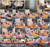 YoungSexParties - Rose, Natasha - Roommates Fuck Two Chicks On A Large Bed [SD]