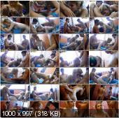 CollegeFuckParties - Joana, Demi, Malika, Kamali - Young College Sauna Fuck Party Part 2 [HD 720p]