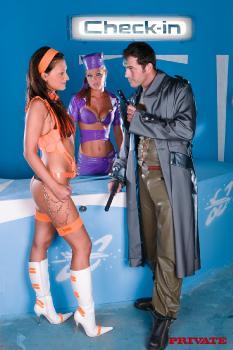 Aletta Alien and Trisha Brill In Sexth Element