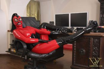 024 - boot torture in latex