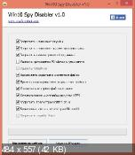 Win10 Spy Disabler 1.0 - запретит Windows шпионить